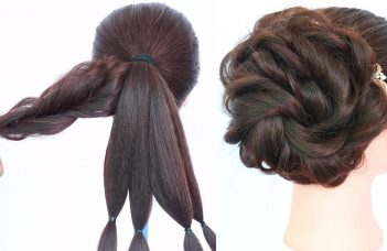messy bun trick    messy updo for weddings    hair style girl    updo hairstyles    hairstyle 8