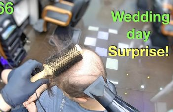Wedding Day Surprise! Wife Won't Recognize Him (Hairstyle for Men) Hair Building Fibers 2019 13