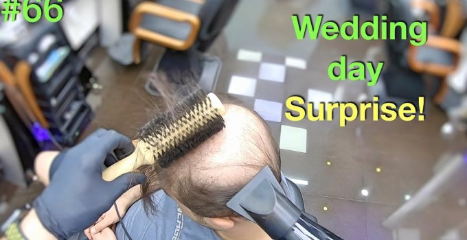 Wedding Day Surprise! Wife Won't Recognize Him (Hairstyle for Men) Hair Building Fibers 2019 7