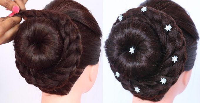 new pinwheel juda hairstyle | braided hairstyles | ladies hair style | cute hairstyles | hairstyle 7
