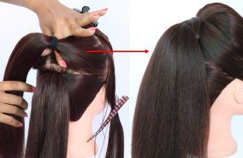 new trick for volumized ponytail with puff || prom hairstyles || cute hairstyles || hair style girl 12