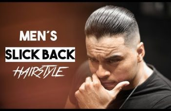 Men´s Slicked Back Hairstyle inspiration 2019. 7